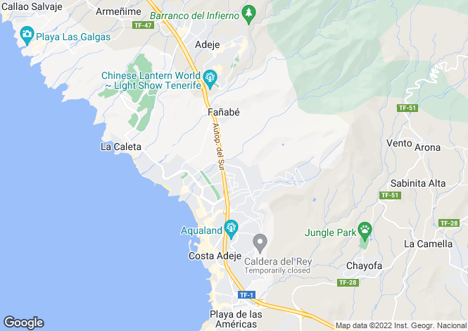 Map for El Madronal, Tenerife, Spain