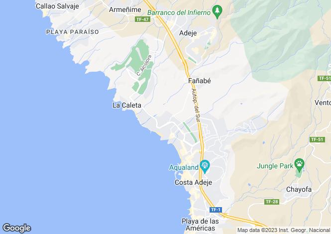 Map for Bellamar, Fanabe, Tenerife, Spain