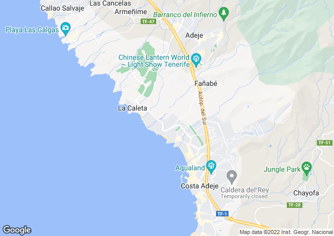 Map for Fanabe, Tenerife, Spain