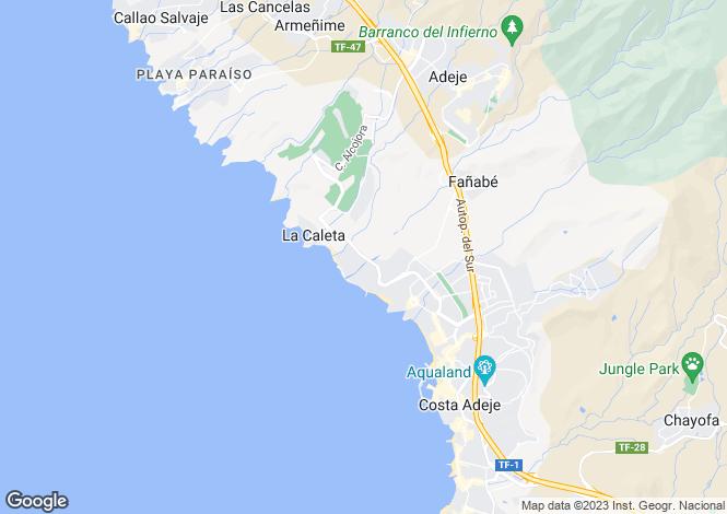 Map for Adeje, Tenerife, Canary Islands
