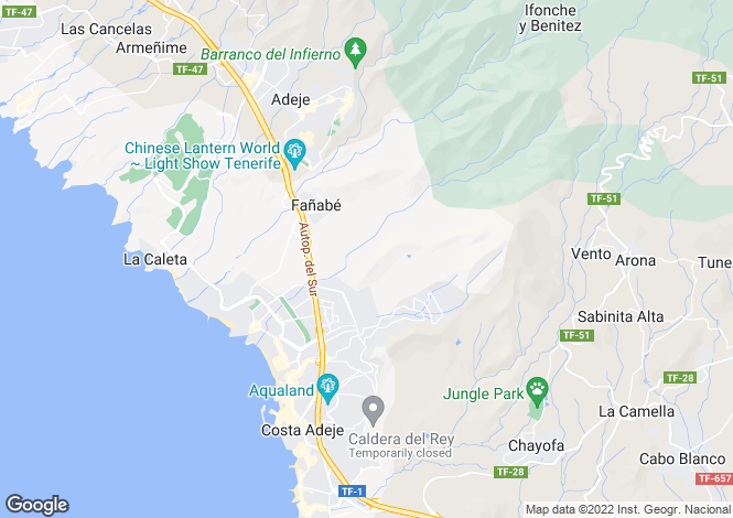 Map for Canary Islands, Tenerife, Puerto Colon