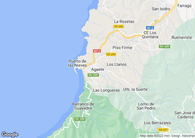 Map for Canary Islands, Gran Canaria, Agaete
