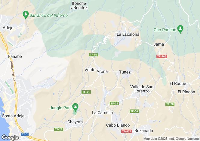 Map for Arona, Tenerife, Canary Islands