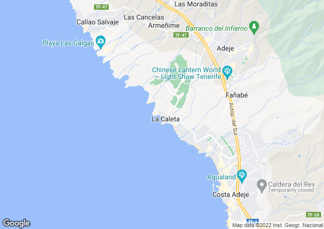 Map for La Caleta, Tenerife, Spain