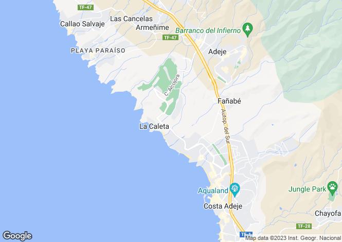 Map for Canary Islands, Tenerife, La Caleta