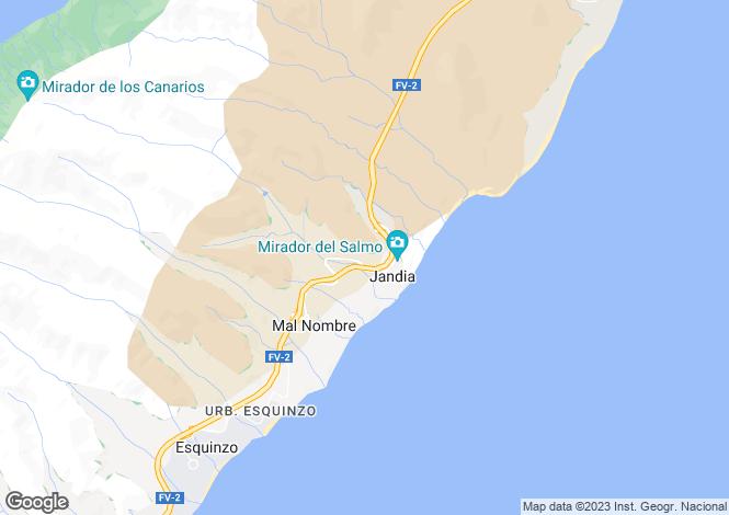 Map for Costa Calma, Fuerteventura, Canary Islands