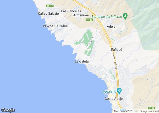Map for La Caleta, Tenerife, Canary Islands