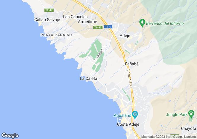 Map for La Caleta, Tenerife, Spain