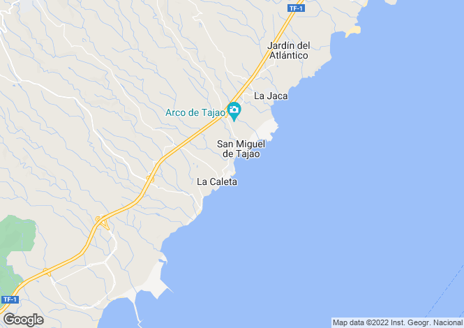 Map for Las Arenas, Tenerife, Spain