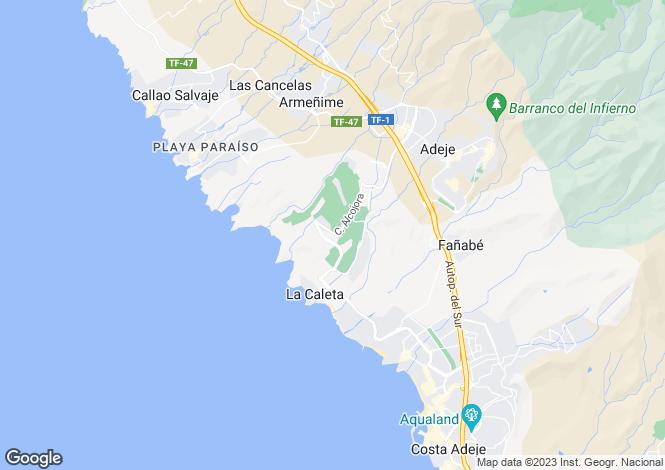 Map for Golf Costa Adeje, Tenerife, Spain