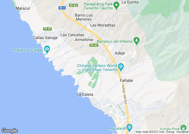 Map for Golf Costa Adeje, Tenerife, Spain