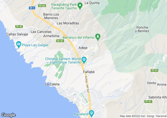 Map for Private, Adeje, , Spain