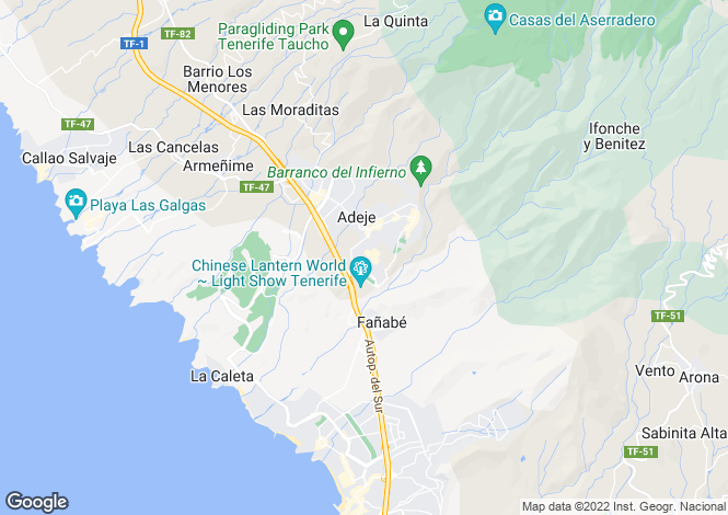 Map for Los Abalos, Adeje, Tenerife, Spain