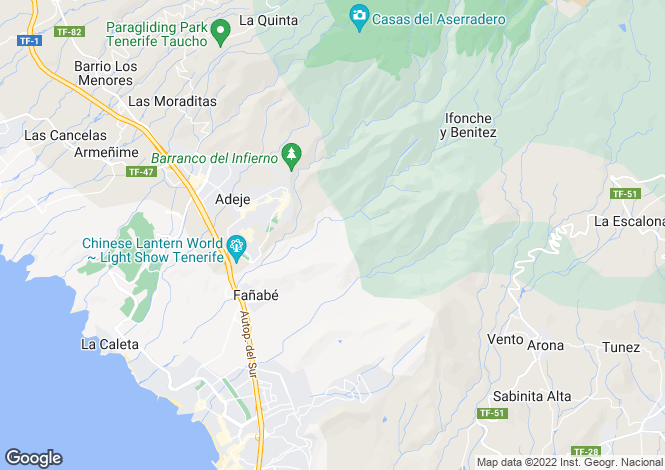 Map for Santa Cruz De Tenerife, Adeje , Spain
