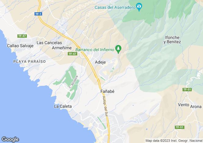 Map for Adeje Teneriffa, Tenerife, Spain