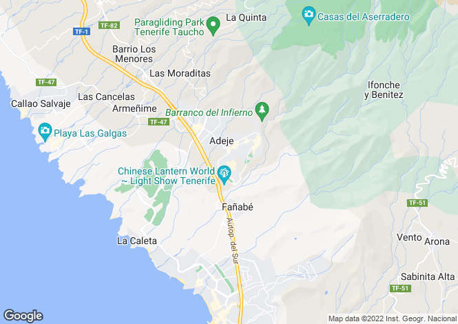 Map for Parque Galeón, Adeje, Tenerife, Spain