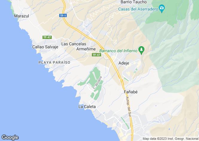 Map for Costa Adeje, Tenerife, Canary Islands