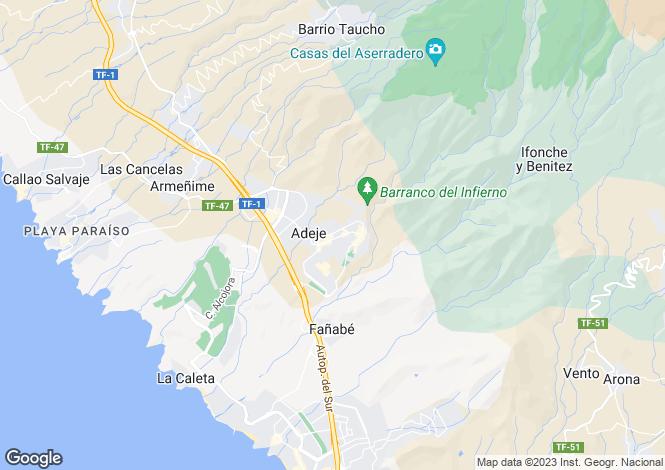 Map for Adeje, Tenerife, Spain