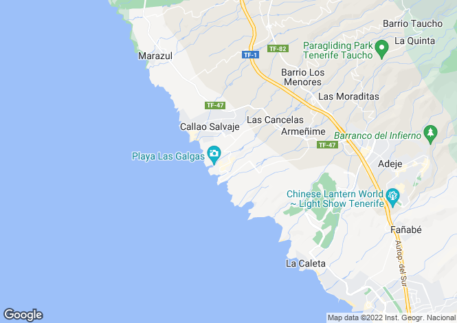 Map for Playa Paraiso, Tenerife, Spain