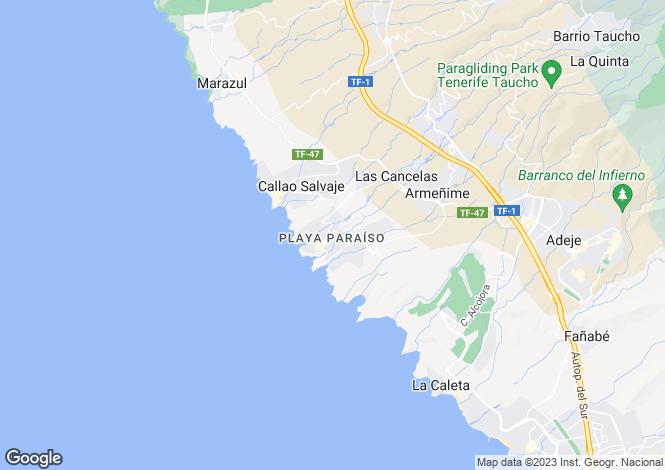 Map for Canary Islands, Tenerife, Playa Paraiso