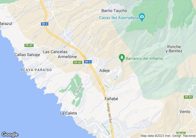 Map for Jardín Botánico, Adeje, Tenerife, Spain