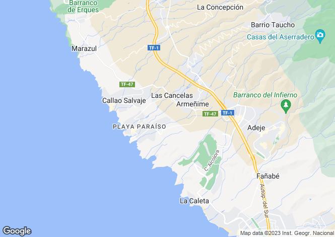Map for Playa Paraiso, Tenerife, Spain
