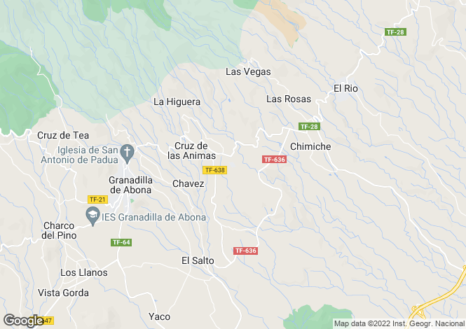 Map for Los Blanquitos, Tenerife, Spain