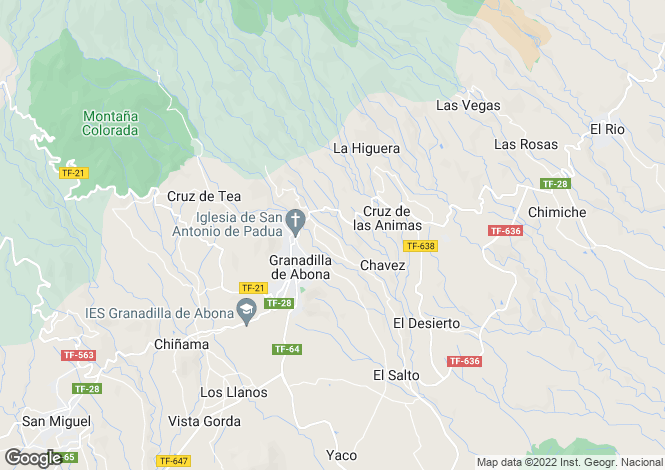 Map for Granadilla de Abona, Tenerife, Spain