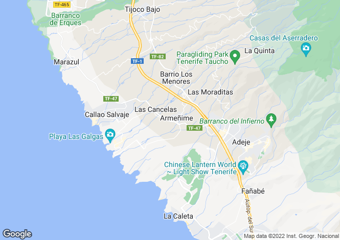 Map for Armenime, Tenerife, Canary Islands