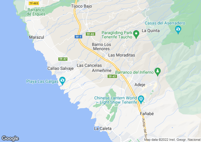 Map for Armenime, Tenerife, Spain