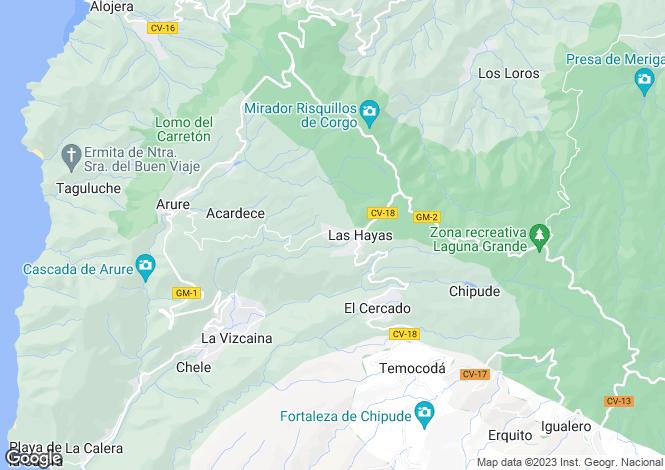 Map for Canary Islands, La Gomera, La Gomera