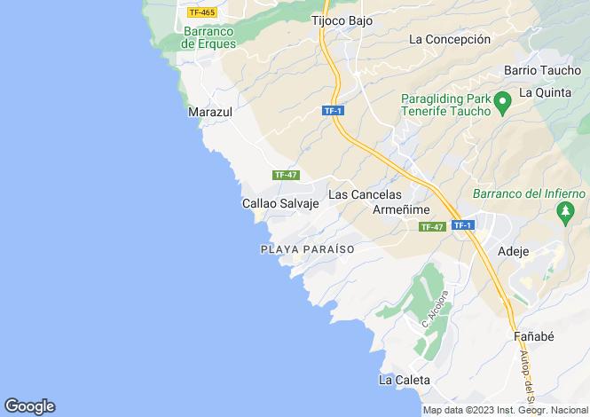 Map for Vistas Alegres, Callao Salvaje, Tenerife, Spain