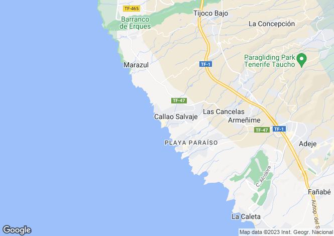 Map for Callao Salvaje, Tenerife, Canary Islands