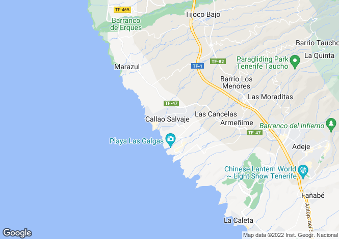 Map for Callao Salvaje, Tenerife, Spain