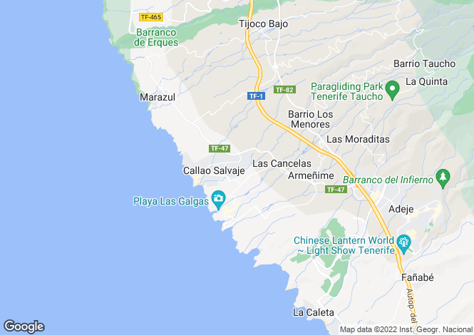 Map for Los Serenos, Callao Salvaje, Tenerife, Spain