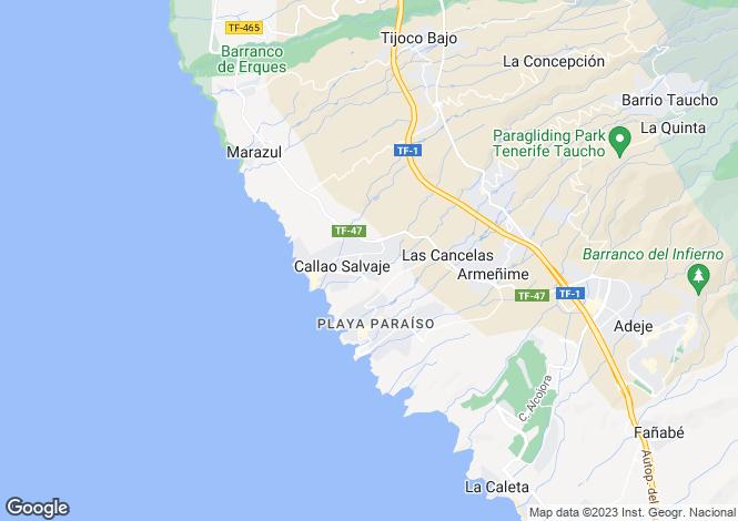 Map for Canary Islands, Tenerife, Callao Salvaje