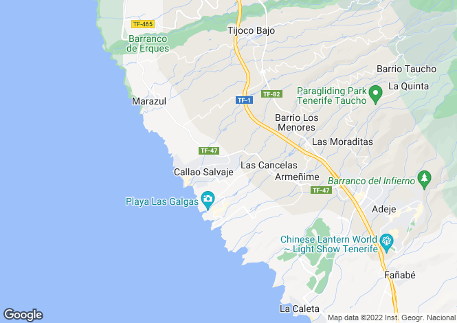 Map for Callao Salvaje, Tenerife, Spain