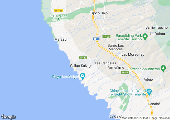 Map for Posto al Sole, Callao Salvaje, Tenerife, Spain