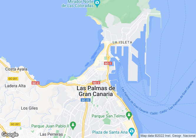 Map for Las Palmas, Gran Canaria, Canary Islands