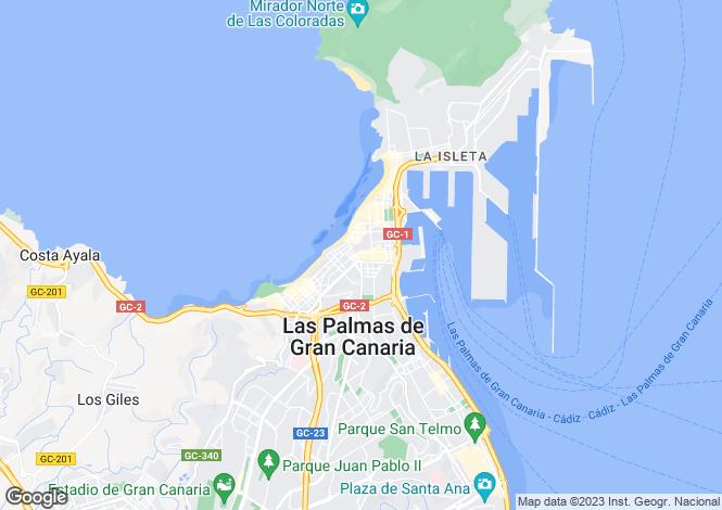 Map for Las Palmas, Gran Canaria, Canary Islands