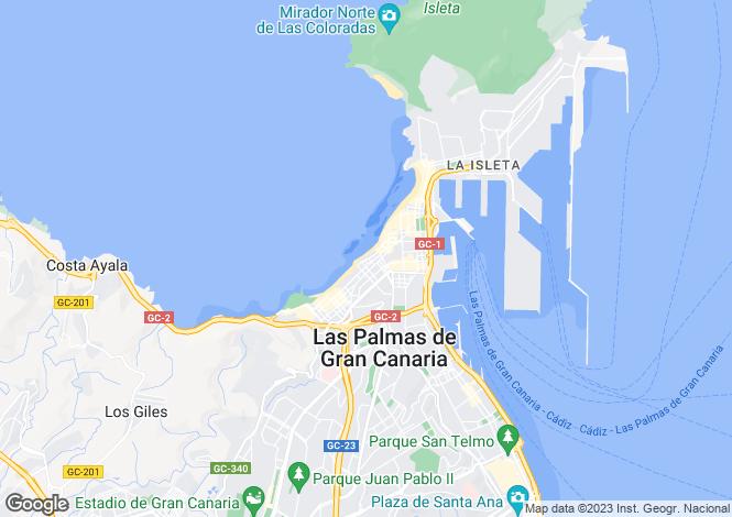 Map for Las Palmas, Gran Canaria, Spain