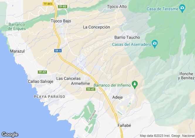 Map for Las Moraditas, Tenerife, Spain