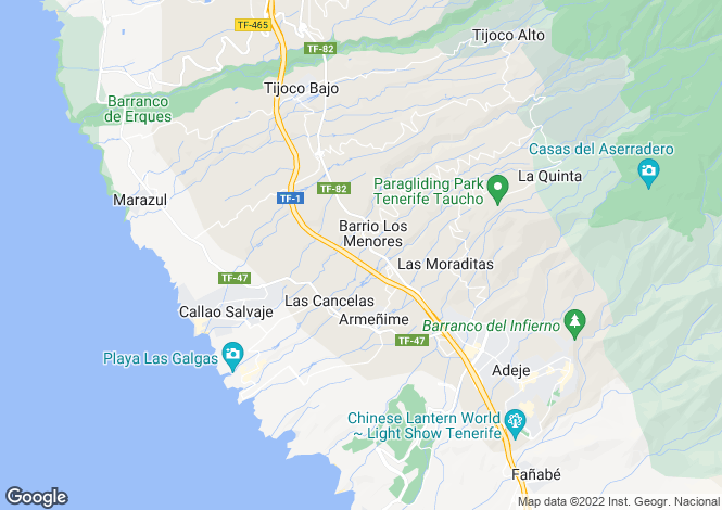 Map for Los Minores, Tenerife, Canary Islands