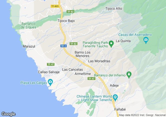 Map for Charco Del Valle, Tenerife, Spain
