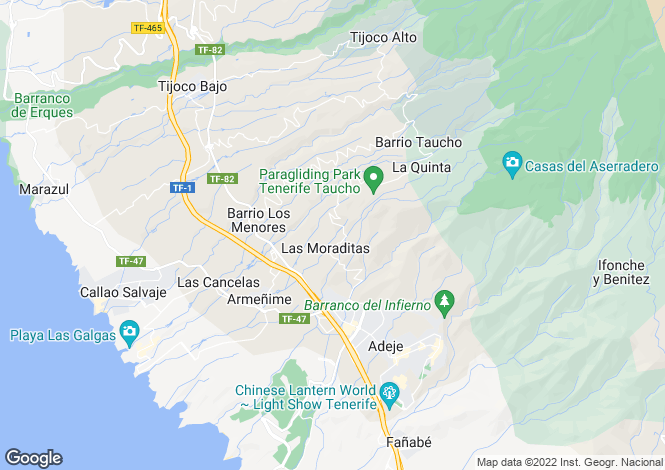 Map for Los Menores, Tenerife, Spain