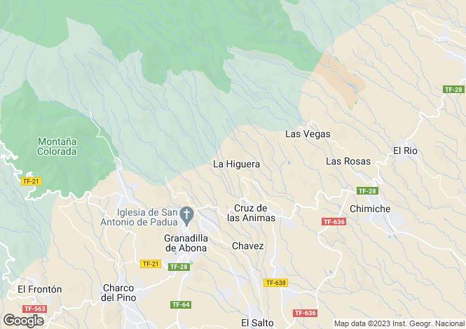 Map for Granadilla de Abona, Tenerife, Canary Islands