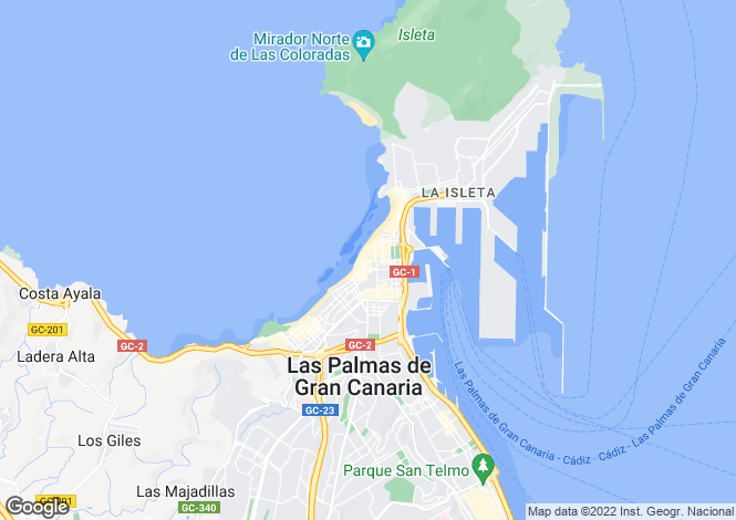 Map for Canary Islands