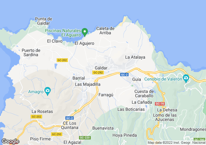 Map for Canary Islands, Gran Canaria, Galdar