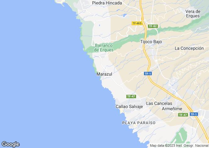 Map for Canary Islands, Tenerife, Marazul