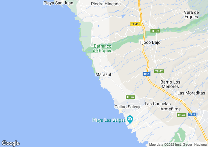 Map for Marazul, Tenerife, Spain